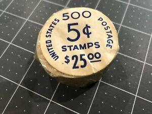 Full Roll 500 Scott 1229 US Postage Stamp 1962 5c George Washington Coil MNH