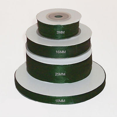 Moss Green double faced satin ribbon 3mm 10mm 16mm 25mm 38mm 50mm width