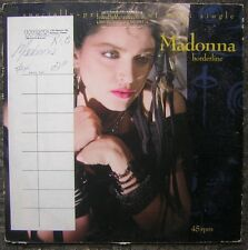 "1984 Madonna ""Borderline"" LP Record - WERS Radio Station Copy in Original Sleeve"