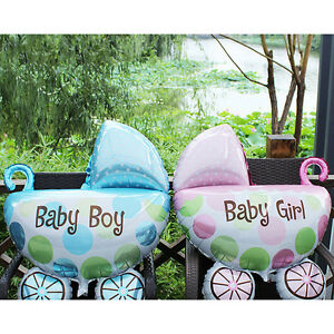 2X-Kids-Birthday-Foil-Balloons-Baby-Stroller-Helium-Balloon-for-Party-Decor-FO