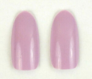 false nails x 20  oval  long  lilac light purple
