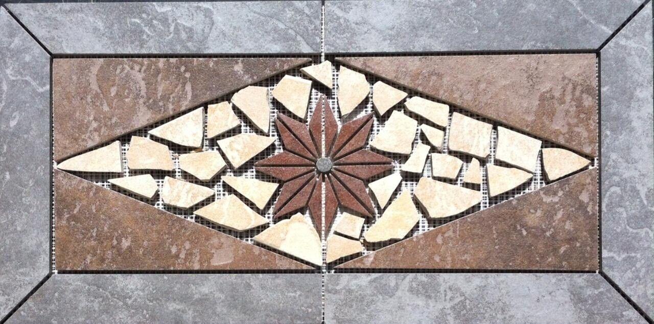 22 1 4  X 11   Tile Medallion - Daltile Continental Slate tile series