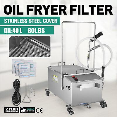 40L Oil Filter Oil Filtration System Filtering Machine Drain Type Fryers 300W