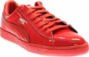 Puma-Basket-Matte-amp-Shine-Sneakers-Red-Mens