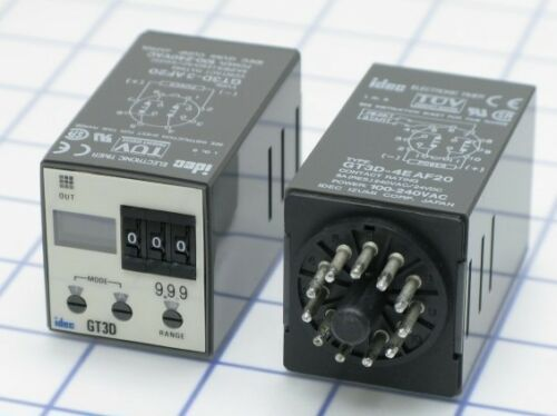 Relay, IDEC, GT3D-4AD24, 24VDC Timing, Automation