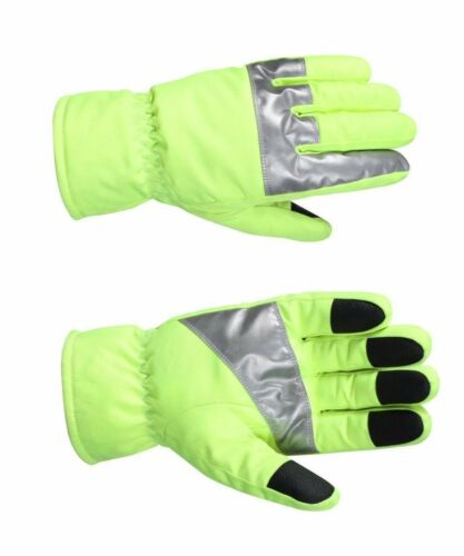 High Visibility Safety Green Waterproof Gloves With Reflective Tape  Rothco 5487