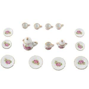 15-pieces-Jeu-de-the-en-porcelaine-de-miniature-de-Dollhouse-aliments-chino-X8P1