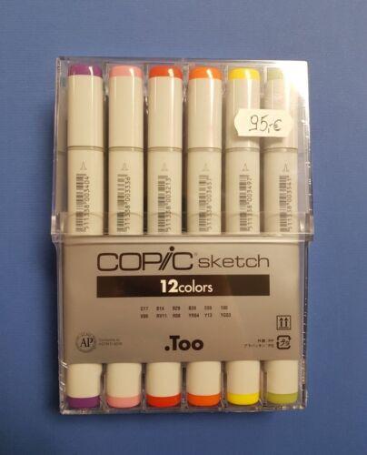 GRATIS FARBKARTE COPIC SKETCH Marker 12er BASIS Set 12 Grundfarben Set inkl