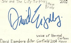 Details about David Eigenberg Actor Sex and The City TV Show Autographed  Signed Index Card