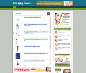 ANTI AGING TIPS STORE WEBSITE WITH BLOG & UK AFFILIATE + NEW FREE DOMAIN