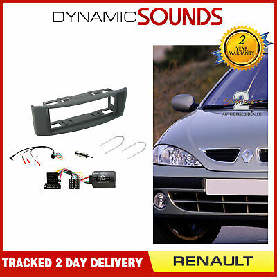 Double Din Car CD Stereo Fitting Kit Fascia Keys Aerial For Renault Megane 2007/>