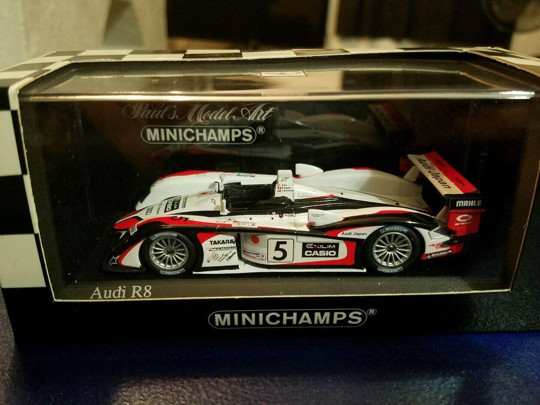 mejor servicio Minichamps 1 43 AUDI R8 2004 le le le mans winner  selección larga