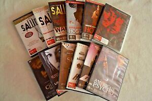 Horror-Films-On-DVD-Saw-Hostel-The-Hitcher-Se7en-Texas-Chainsaw-American-Psycho