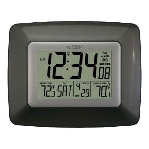 La Crosse WS-8119U-IT-CHO Digital Clock w/ Indoor/Outdoor Temperature - Black