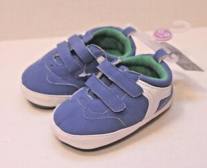 c8bb63690 Carter s Infant Baby Boy Size 3 Blue   White Crib Shoes 6-9 Months ...