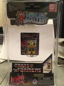 RARE-nouvellement-liberes-World-039-s-Smallest-Transformers-Bumblebee-1-25-034-Action-Figure