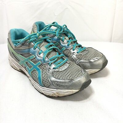 Asics Gel Contend 2 Womens 9 Blue Silver Lace Up Athletic Running Shoes | eBay