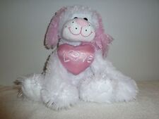"Valentine Puppy Dog *Love* Heart Sitting 12"" Plush Stuffed Animal  Lovey Toy (E)"