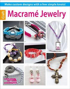 MACRAME-JEWELRY-Glass-Beads-Beaded-Basic-Braiding-Cord-Knots-Craft-Idea-Book
