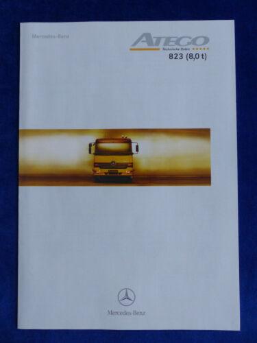 dati tecnici-prospetto brochure 01.1998 8,0 T MERCEDES-BENZ ATEGO 823