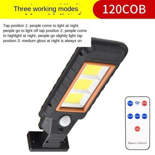 800W Solar Street Light Motion Sensor Waterproof Remote Control Wall Lamps