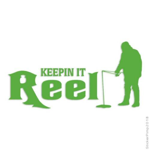 Keep It Reel Ice Fishing Decal Sticker Choose Color Size #417