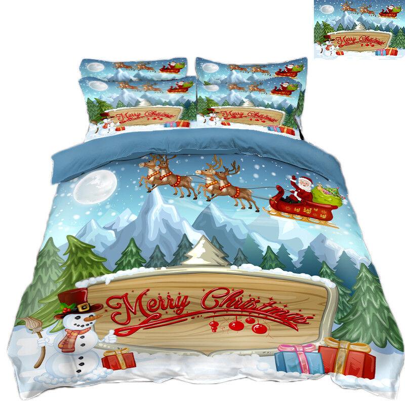 3D Weihnachten  Xma 302 302 302 Bett Kissenbezüge steppen Duvet Decken Set Single DE c23f32
