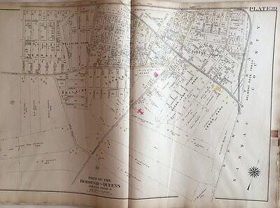 1908 CONEY ISLAND JOCKEY CLUB RACETRACK SHEEPSHEAD BAY BROOKLYN NY ATLAS MAP