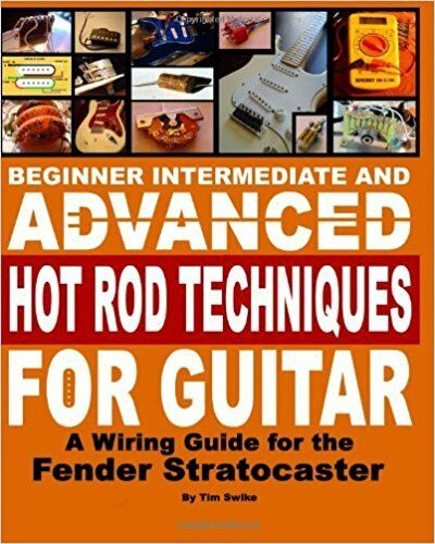 Fender Stratocaster Guitar Body Building DIY Unfinished Wiring Kit Book on CD