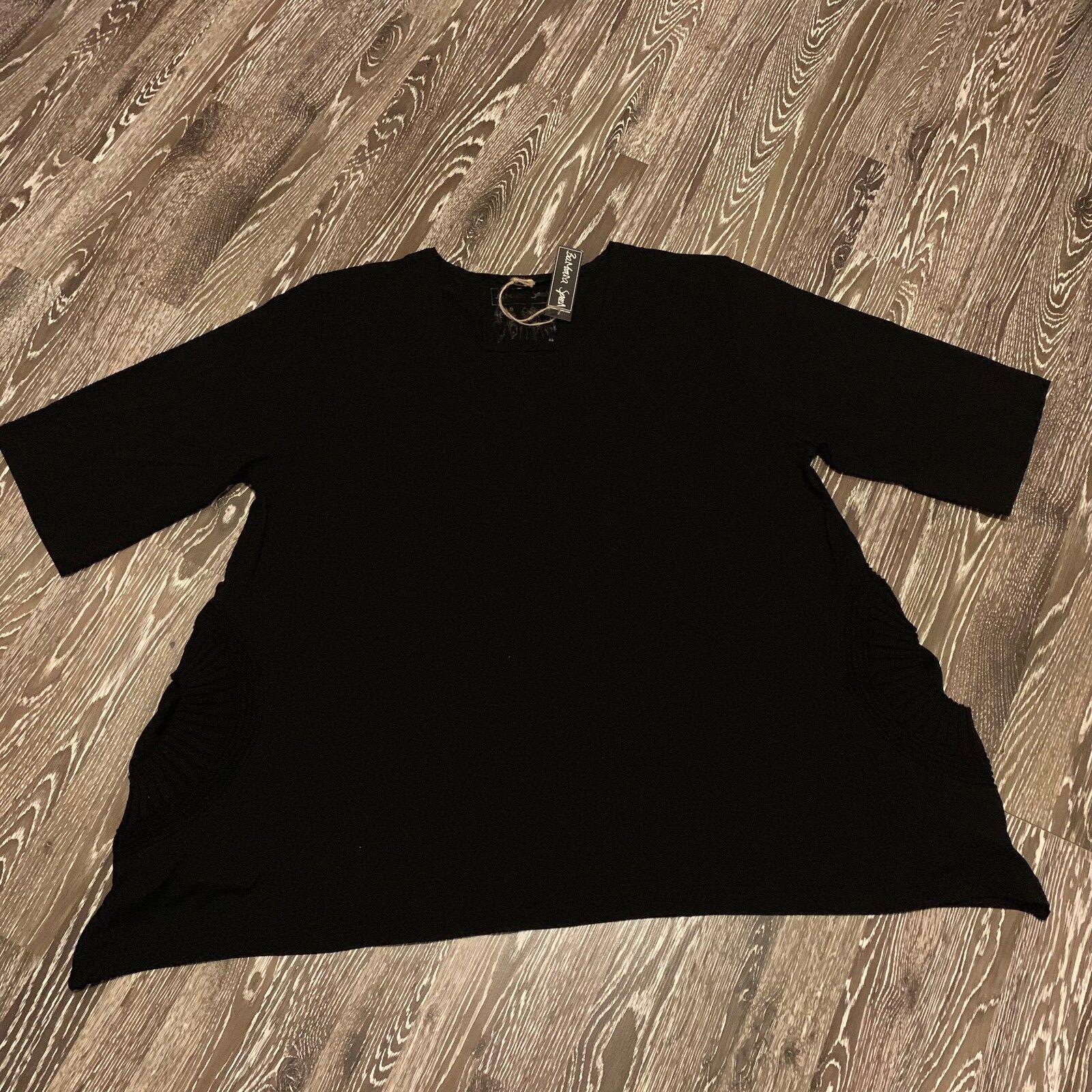 Barbara Speer Lagenlook lässig, weites T-Shirt aus Viskose in in in schwarz NEU 58c1c1