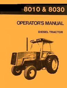 Allis Chalmers Operator/'s Manual 8010 /& 8030 Diesel Tractor LOTS More Listed LG6