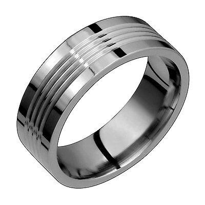 Titanium Band Comfort Fit 8mm Wide Sandblast Finish Engagement Ring Size 4 to 14