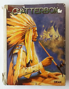 large-vintage-UK-children-039-s-book-CHATTERBOX-undated-Native-American-cover-w-DJ