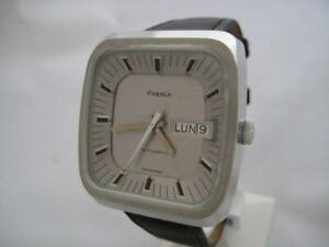 NOS-NEW-SWISS-MADE-PHENIX-WATER-RESISTANT-AUTOMATIC-MEN-039-S-STAINLESS-STEEL-WATCH