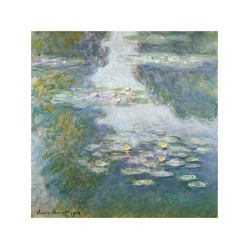 Quadro su Pannello Pannello Pannello in Legno MDF Claude Monet Waterlilies a58bca