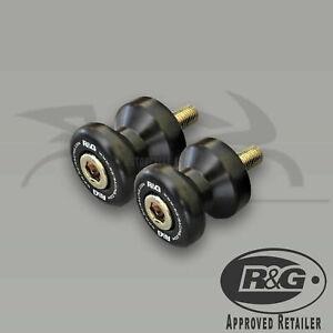 Suzuki-GSXR750-1999-SRAD-R-amp-G-Racing-Black-M8-Cotton-Reels-Paddock-Stand-Bobbins