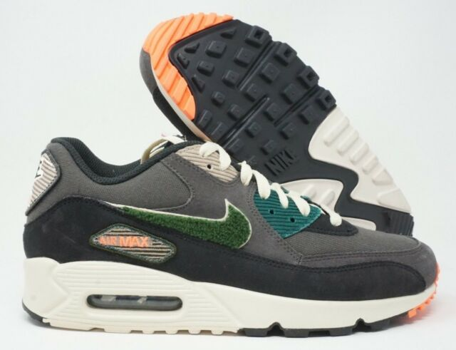 premium selection caf2c 95f1c Nike Air Max 90 Premium SE Mens Running Shoes Oil Grey Rain Forest Size 9