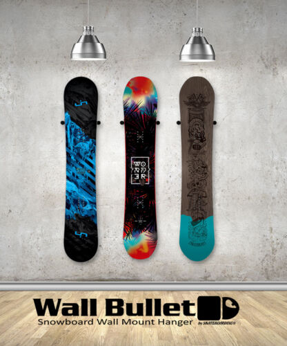 Wall Bullet Snowboard Wall Mount Hanger Display Storage Rack Grab /& Go