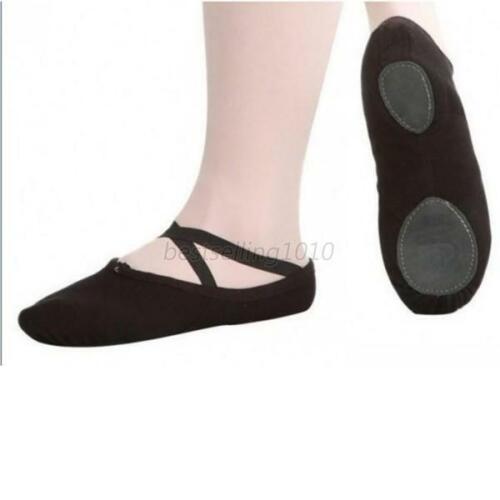 Women Girl Ballet Dance Canvas Split Sole Shoes Pointe Slippers Gymnastics Shoes