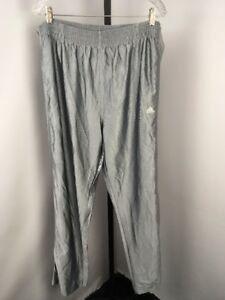 Details about Vtg ADIDAS Silver WHITE TEAR AWAY SNAP Blue TAG 3 STRIPE WARM UP TRACK PANTS L