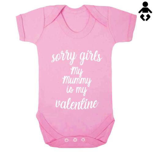 SORRY GIRLS Day love Baby grow BABY VEST // Bodysuit MY MUMMY IS MY VALENTINE