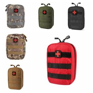 Outdoor Tactical Molle Medical First Aid Edc Pouch Phone Pocket Bag Organizer GD