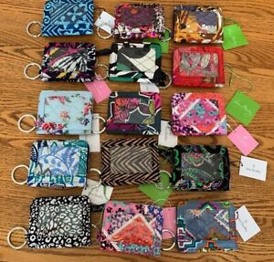 Vera-Bradley-CAMPUS-DOUBLE-ID-CASE-badge-or-gift-card-holder-small-wallet-coin