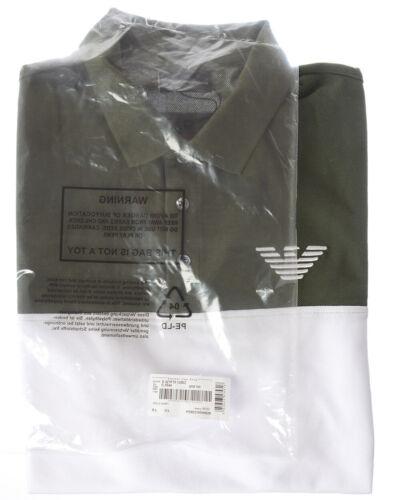 544 Uomo Shirt Emporio Armani 3z1f701j0sz Polo Cotone Verde qRwxvv6F