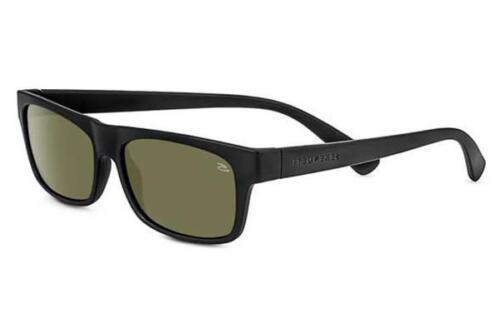 Serengeti Rapallo Lunettes de soleil 8365-brillant Cadre Noir Avec Miroir Lentille 555 Presque comme neuf