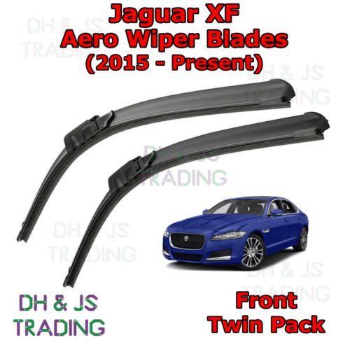 15-19 Jaguar XF Aero Wiper Blades//Hoja Plana Parabrisas Frontal Limpiaparabrisas XF
