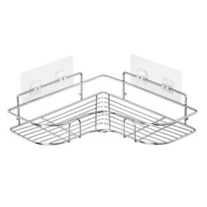 1 Tier Corner Bathroom Bath Room Shower Caddy Organiser Tidy Rack Shelf Steel