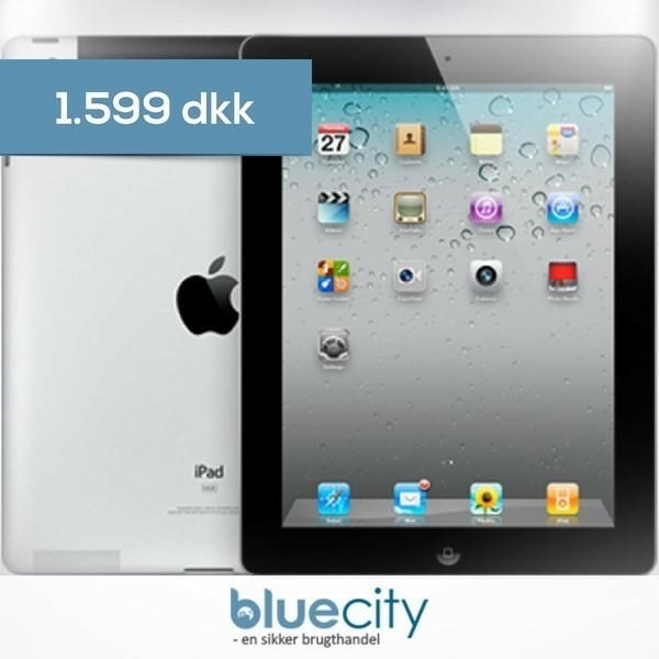 iPad 2, God stand. Apple iPad 2 Wi-Fi + 3G 32GB Sort  2 års…