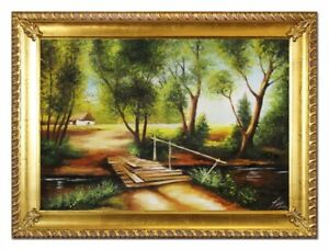 Oil-Painting-Pictures-Hand-Painted-Baroque-with-Frame-Art-G96531