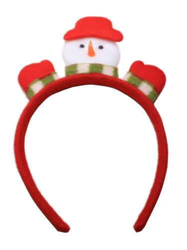 Christmas Festive Padded Snowman Motif Alice Hair Band Headband Gift Party